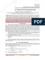 Control Chart Analysis of Ek/M/1 Queueing Model