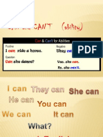 can      can't