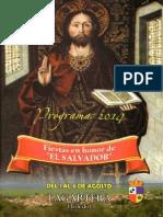 Programa Fiestas El Salvador 2014 Lagartera