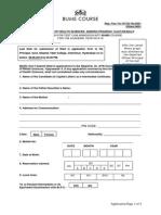 BHMUS Application Form