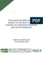 GBS2014 NIIF MICRO 005 Guia Implementación Por Primera Vez