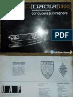 Manual Utilizare Dacia 1300_1969