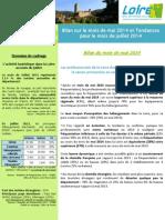 Bilan Sur Le Mois de Mai Et Tendances Pour Le Mois de Juillet 2014