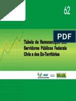 Tabela de Remuneração Dos Servidores Públicos Federais