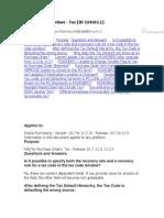 FAQ - Tax in PO