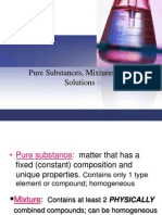 Pure Substances, Mixtures and Solutions