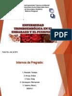 Seminario. Enfermedad Tromboembólica en El Embarazo y El Puerperio