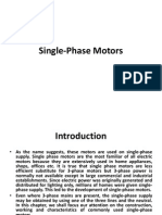 Single Phase Motors - Electrical Machines 2 Notes