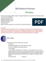 Nikon D3200 firmware update