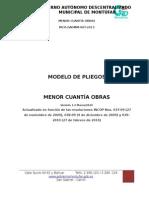 Modelo de Pliegos