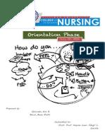 Nurse-Client Summary of Interaction Week 3