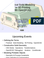 Practical Solid Modeling for 3d Printing With Openscad 2013-09-25