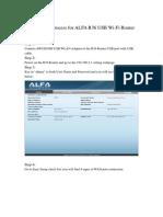 Configuración Rápida - Router ALFA R36