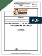 183326155 Plan Especifico de Seguridad y Salud en El Trabajo Nueva Norma 2013