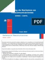 Ranking Reclamos Telecomunicaciones 2013