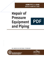 ASME PCC-2 - 2008 Repair of Pressure Equipment and Piping