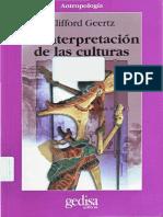 GEERTZ Clifford 2003 1973 La Interpretacion de Las Culturas GEDISA