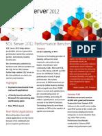 SQL Server 2012 Datasheet Benchmark Performance Apr2012