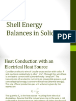 Shell Energy Balances in Solids