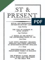 Past and Present - Nº 107 - Mayo 1985