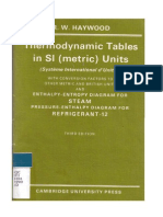 Thermodynamic Tables in SI(metric) units R.W. Haywood 3rd edt. Cambridge University Press