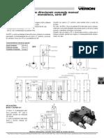 Valvulas Direcionais Comando Manual Monobloco Serie BF