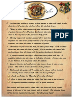 rules for harry potter class 2