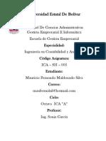 Mauricio Maldonado, Contabilidad y Auditoria, experiencia de aprendizaje N° 6