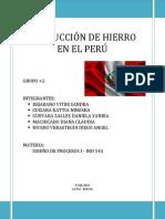 Producción de Hierro en El Perú