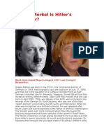 Angela Merkel Is Hitler's Daughter