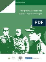 Integrating Gender into Internal Police Oversight