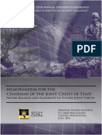 Memorandum for the Chairman of the Joint Chiefs of Staff