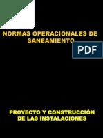 Sección 5.-Normas Operacionales de Saneamiento