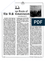 1988 Issue 1 - The Religious Roots of the U.S. Constitution - Counsel of Chalcedon