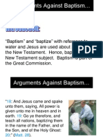 Arguments Against Baptism