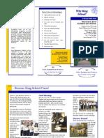 king school brochure trifold
