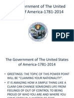 The Government of The United States of America-1781-2014-Nationality