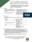 How to Write Accomplishment Statements Using STAR UTEP
