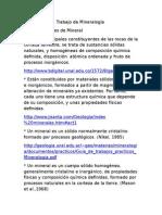 Informe de Mineralogïa - Parte !
