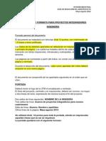 Estructura y Formato Para Anteproyectos