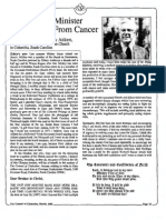 1988 Issue 3 - A Reformed Minister Faces Death From Cancer - Counsel of Chalcedon