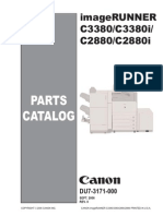 CANON Color ImageRUNNER C2880, C2880i, C3380, C3380i Parts List