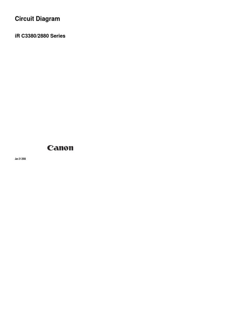 Canon Imagerunner Ir C2880  Ir C3380 Circuit Diagrams