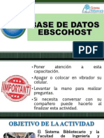 Base de Datos Ebscohost