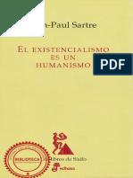 El Existencialismo Es Un Humanismo - Jean-Paul Sartre