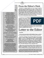 1988 Issue 4-5 - Letter to the Editor - Counsel of Chalcedon