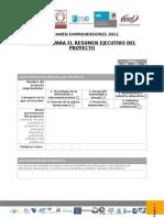 Formato Resumen Ejecutivo Del Proyecto