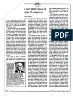 1988 Issue 6 - The Importance and Relevance of the Westminster Confession - Counsel of Chalcedon