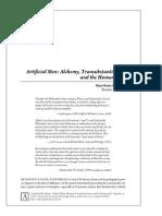 'Artificial Men' Alchemy, Transubstantiation, And the Homunculus