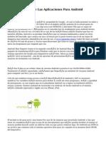Aspectos Vitales De Las Aplicaciones Para Android
